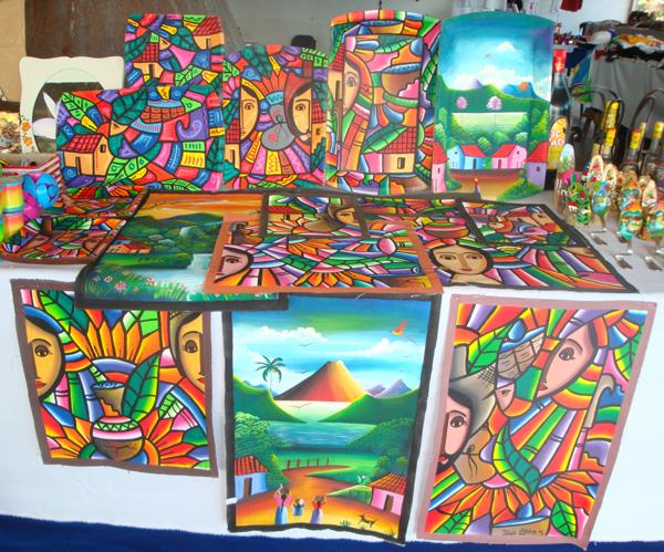 600 Живопись сальвадорских мастеров в национальном стиле