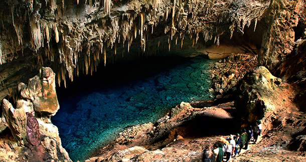 BONITO/MS, 03/07/2003.  FOTO/DIGITAL: ICHIRO GUERRA.  Gruta da Lagoa Azul em Bonito, Mato grosso do sul.