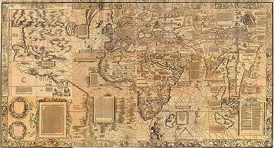 Морская карта 1516 года резкость