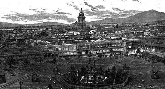 04 Центральная площадь города Лимы в XIX веке 550
